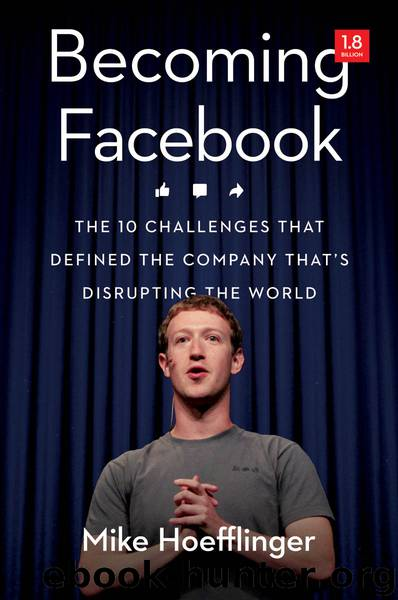Becoming Facebook: The 10 Challenges That Defined the Company That's Disrupting the World by Mike HOEFFLINGER