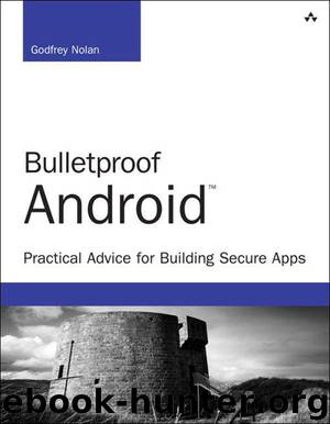Bulletproof Android: Practical Advice for Building Secure Apps (Developer's Library) by Godfrey Nolan