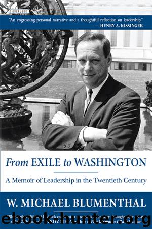 From Exile to Washington by Michael Blumenthal