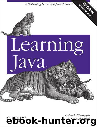 Learning Java by Patrick Niemeyer & Daniel Leuck