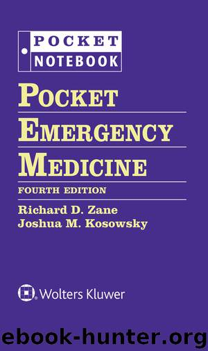 Pocket Notebook: Pocket Emergency Medicine, 4e by unknow